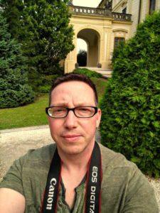 Selbstfotografie auf der Prager Burg (Foto: der uNi)