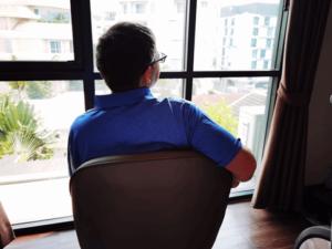 Mein Ausblick aus meinem Zimmer im SureStay Plus Hotel by Best Western in Bangkok